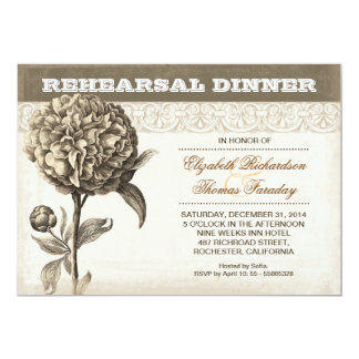 o jantar de ensaio do desenho da flor convida convite personalizados