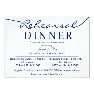 o jantar de ensaio elegante branco do roteiro do convite 12.7 x 17.78cm