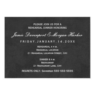 O jantar de ensaio elegante convida o preto branco convite