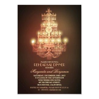 o jantar de ensaio elegante do candelabro do convite 12.7 x 17.78cm