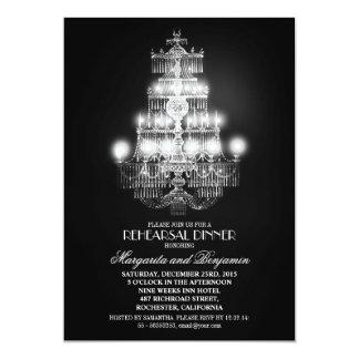 o jantar de ensaio elegante do candelabro do convites personalizados