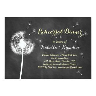 O jantar de ensaio floral do quadro convida (o convite personalizados