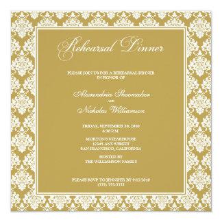 O jantar de ensaio impressionante do damasco convites