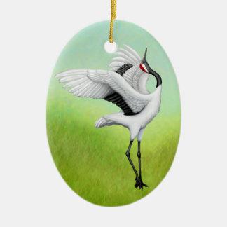 O japonês de dança Cranes o ornamento do feriado