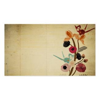 O japonês do vintage floresce o cartão de visita