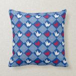 O japonês Origami Cranes o teste padrão (Orizuru) Travesseiro