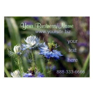 O jardim azul floresce cartões de visitas do