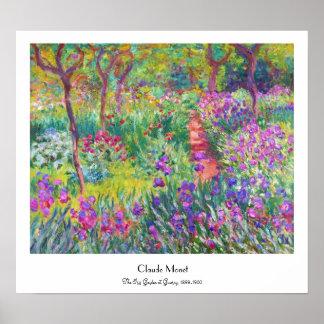 O jardim da íris em Giverny Claude Monet legal ve Pôsteres