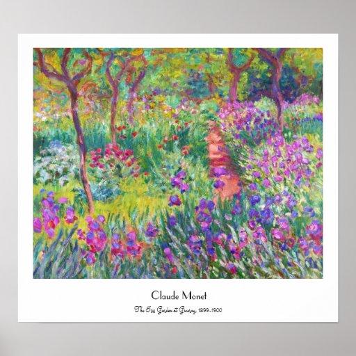 O jardim da íris em Giverny Claude Monet legal, ve Pôsteres