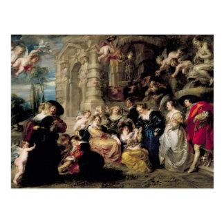 O jardim do amor, c.1630-32 cartão postal