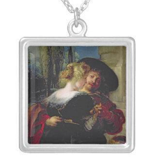 O jardim do amor, c.1630-32 colar banhado a prata