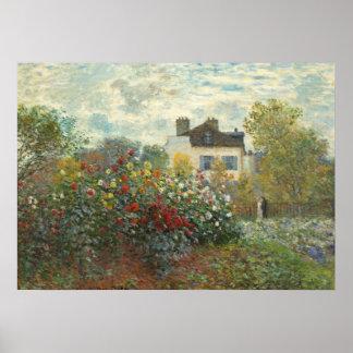 O jardim do artista em Argenteuil Poster