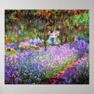 O jardim do artista em Giverny, Claude Monet Poster