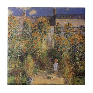 O jardim do artista em Vetheuil por Claude Monet
