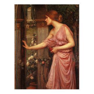 O jardim do Cupido entrando da psique pelo Waterho Cartão Postal