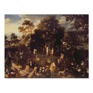 O Jardim do Éden Cartão Postal