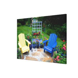 O jardim projeta em nosso jardim Sammamish, 4 Impressão De Canvas Esticada