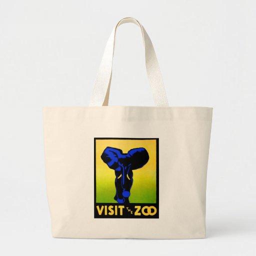 O jardim zoológico!! bolsa para compras