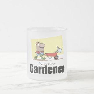 O jardineiro o mais fresco do mundo caneca de café vidro jateado
