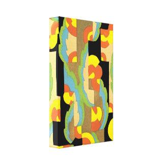 O jazz retro do art deco circunda o teste padrão d impressão em canvas