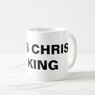 """O """"Jesus Cristo é rei"""" caneca clássica"""