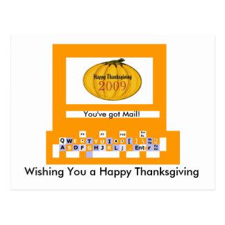 O jGibney pumpkin7comput1Br da série do artista do Cartão Postal