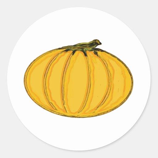 O jGibney pumpkin7tc100 da série do artista do Adesivos Redondos