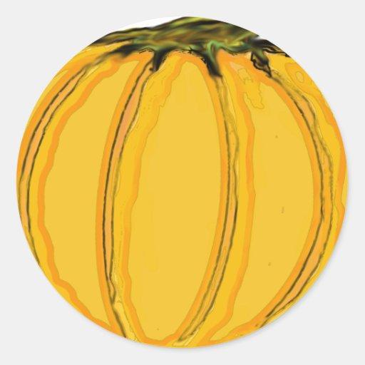 O jGibney pumpkin7tc100 da série do artista do Adesivo Em Formato Redondo