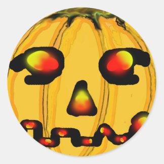 O jGibney Pumpkinfirey da série do artista do Adesivo Redondo