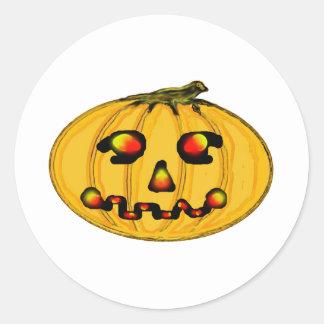 O jGibney Pumpkinfirey da série do artista do Adesivo Em Formato Redondo