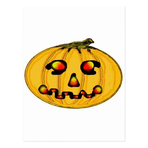 O jGibney Pumpkinfirey da série do artista do Cartoes Postais