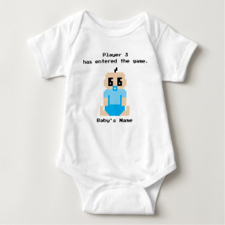 O jogador 3 entrou na camisa do bebé de The Game