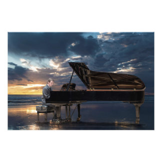 O jogador de piano impressão de fotos