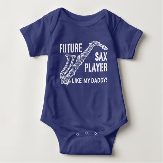 O jogador de saxofone futuro gosta de meu pai body para bebê