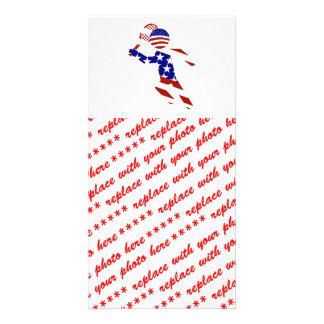 O jogador de ténis dos homens patrióticos dos EUA Cartão Com Foto