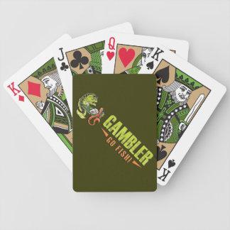 O jogador seduz cartões de jogo da bicicleta jogo de baralho
