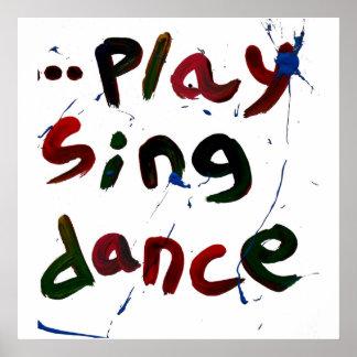 o jogo canta a dança impressão
