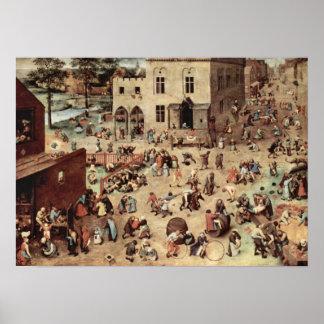 O jogo das Bruegel-Crianças de Pieter Poster