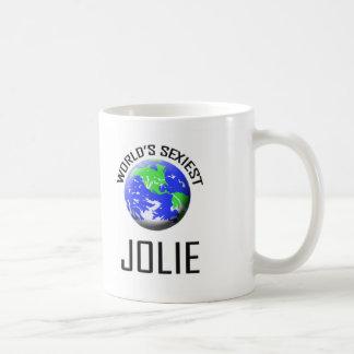 """O Jolie o mais """"sexy"""" do mundo Canecas"""
