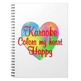 O karaoke colore meu coração feliz caderno espiral