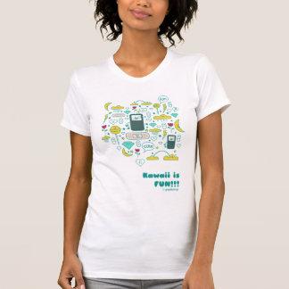 o kawaii é camisa da mulher t do divertimento