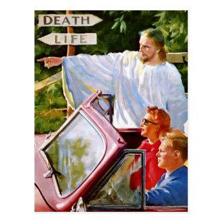 O kitsch retro Jesus do vintage aponta a maneira Cartão Postal