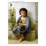 O Knitter pequeno - William-Adolphe Bouguereau Cartões