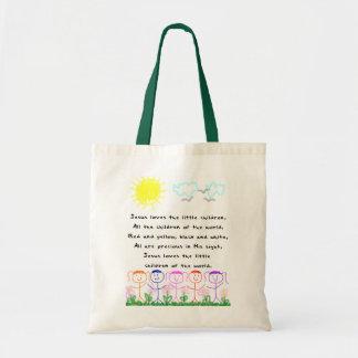O KRW Jesus ama a sacola das crianças pequenas Sacola Tote Budget