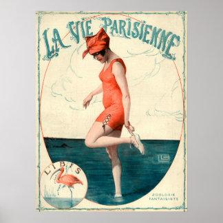 O La do art deco Vie o poster de Parisienne