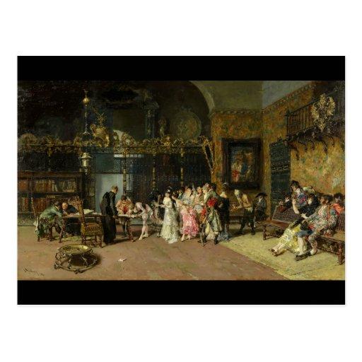 O La espanhol Vicaría do casamento por Mariano For Cartões Postais