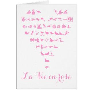 O La Vie o cartão cor-de-rosa do dia dos namorados