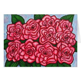 O La Vie o cartão de nota cor-de-rosa do en