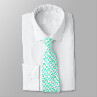 O laço de seda dos homens com pontos de turquesa gravata