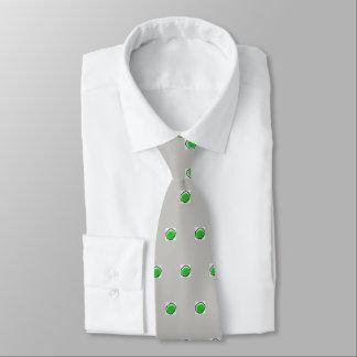 O laço de seda dos homens, ponto verde, taupe gravata